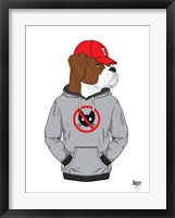 Framed Boxer Dog In City Style