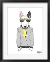 Framed Bull Terrier in City Style