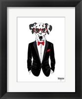 Framed Dalmatian Dog in Tuxedo