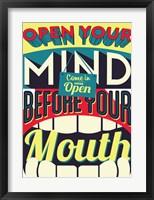Framed Open Your Mind