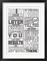 Framed Motivational Set White