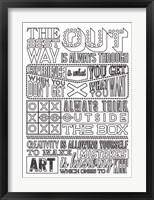 Framed Creativity Set White