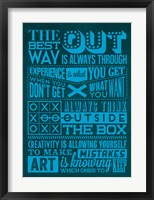 Framed Creative Set Blue