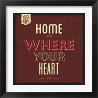 Framed Home Is Were Your Heart Is