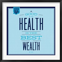 Framed Health Is The Best Wealth 1