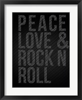 Framed Peace Love and Rock N Roll