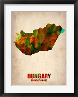 Framed Hungary Watercolor