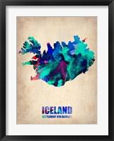 Framed Iceland Watercolor