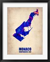 Framed Monaco Watercolor