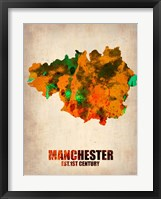 Framed Manchester Watercolor