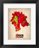 Framed Zurich Watercolor