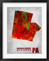 Framed North Liberties Pennsylvania