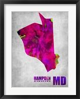 Framed Hampden Maryland