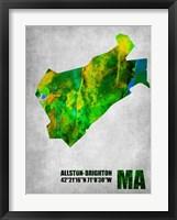 Framed Allston-Brighton Massachusetts