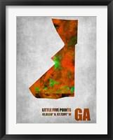 Framed Little Five Points Georgia