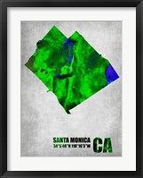 Framed Santa Monica California