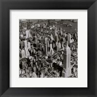 Framed New York Skyline Summer