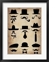 Framed Hats Glasses and Mustaches
