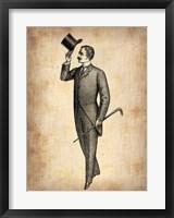 Framed Vintage Victorian Man