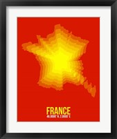 Framed France Radiant Map 1
