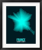 Framed France Radiant Map 2