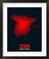 Framed Spain Radiant Map 1