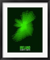Framed Ireland Radiant Map 2