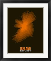 Framed Ireland Radiant Map 3