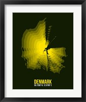 Framed Denmark Radiant Map 1
