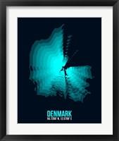 Framed Denmark Radiant Map 2