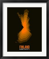 Framed Finland Radiant Map 2