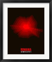 Framed Romania Radiant Map 1