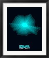 Framed Romania Radiant Map 3