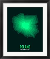 Framed Poland Radiant Map 1