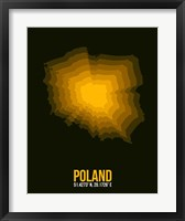Framed Poland Radiant Map 2