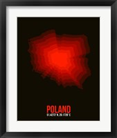 Framed Poland Radiant Map 3
