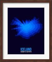 Framed Iceland Radiant Map 3