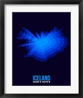 Framed Iceland Radiant Map 3