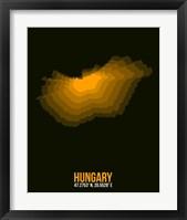 Framed Hungary Radiant Map 3