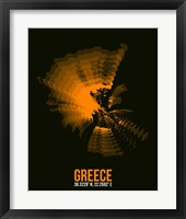 Framed Greece Radiant Map 2