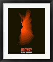 Framed Norway Radiant Map 1