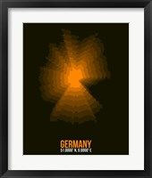 Framed Germany Radiant Map 1
