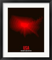 Framed USA Radiant Map 2