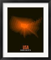 Framed USA Radiant Map 4