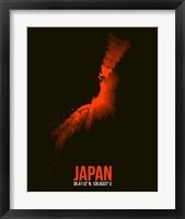 Framed Japan Radiant Map 1