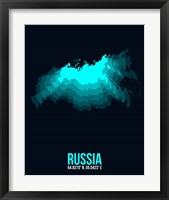 Framed Russia Radiant Map 2