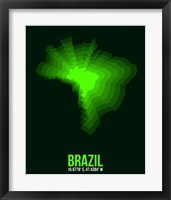 Framed Brazil Radiant Map 2