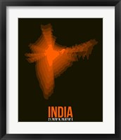 Framed India Radiant Map 1