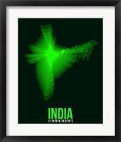 Framed India Radiant Map 2