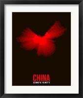 Framed China Radiant Map 1